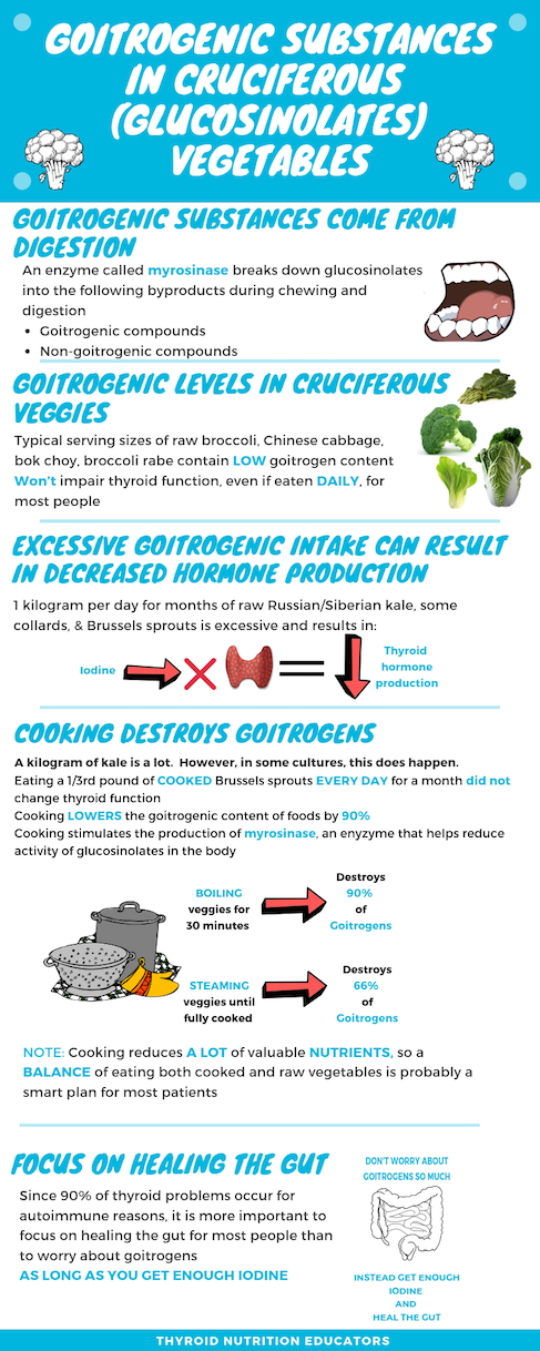 Goitrogenic Substances in Cruciferous Vegetables and Thyroid Function | Thyroid Nutrition Eductors