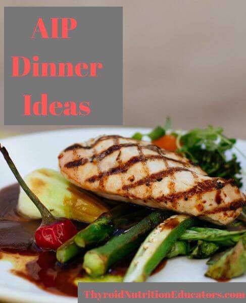AIP DInner Ideas Picture of Chicken on a Plate | Thyroid Nutrition Educators