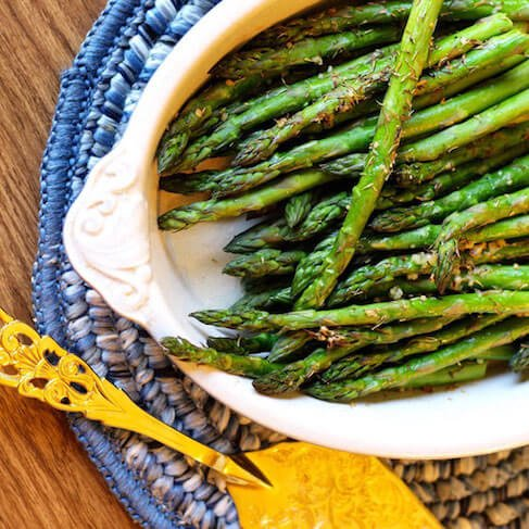 Lemon Garlic Asparagus Recipe by Amy Gorin | Thyroid Nutrition Educators