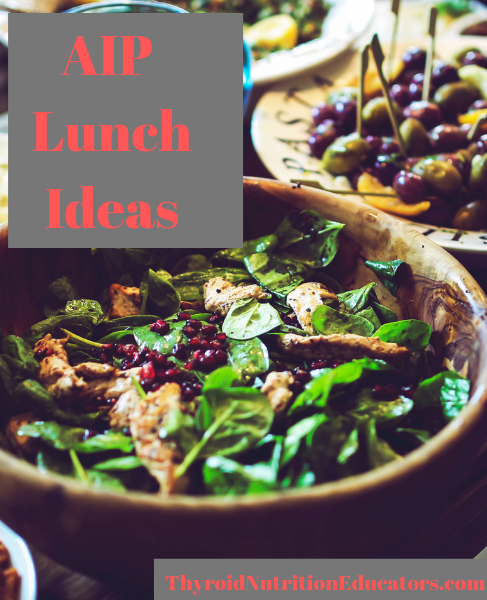 AIP Lunch Ideas Picture of Salad | Thyroid Nutrition Educators