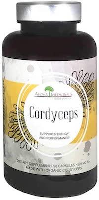 Bottle of Aloha Brand Cordyceps Mushrooms | Thyroid Nutrition Educators