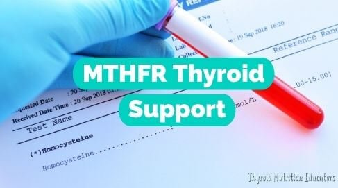 "says ""MTHFR Support for Thyroid"" On top of a red test tube 