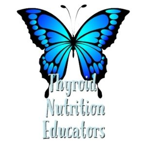 """Logo for Site Blue Butterfly with words """"Thyroid Nutrition Educators"""" 