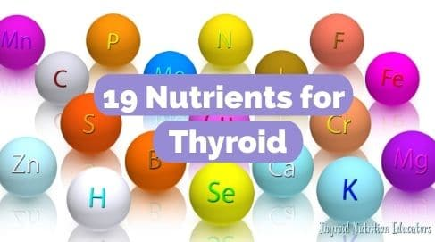 """Elements with Letters and words """"Nutrients for Thyroid"""" in white writing 