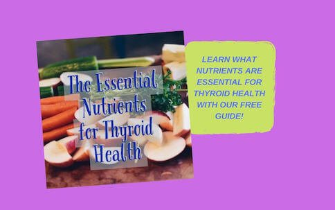 Pink Background with the Words Get Our Free Nutrition Thyroid Guide|Thyroid Nutrition Educators