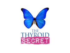 "Butterfly with the works ""the thyroid secret"" photo for the thyroid secret video series Educational Programs 